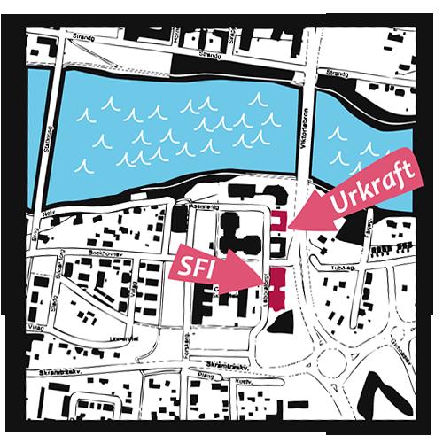 Karta till Urkraft och SFI