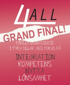 4ALL-föreläsningsserien Grand Final!